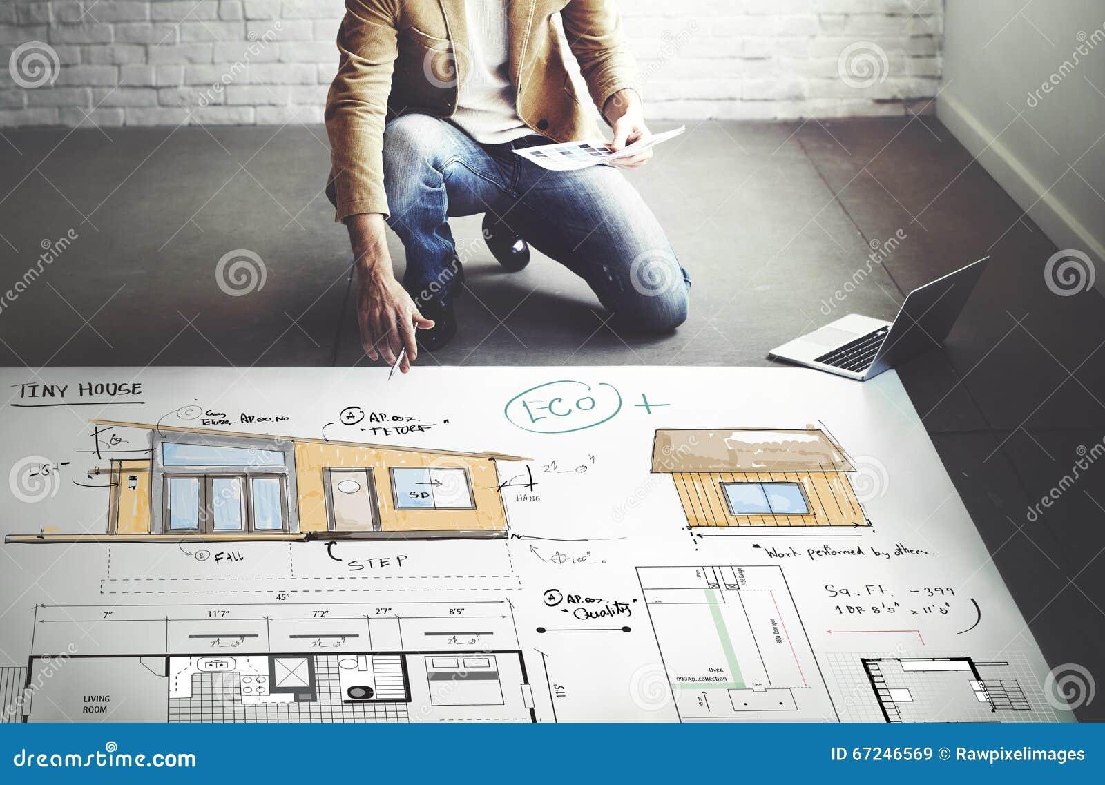 house layout floor plan blueprint sketch concept stock