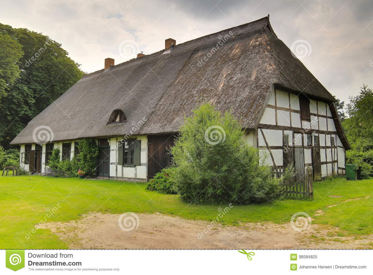 Download House Listed As Monument In Dersekow, Mecklenburg-Vorpommern, Germany Stock Image - Image of brown, dersekow: 98584825
