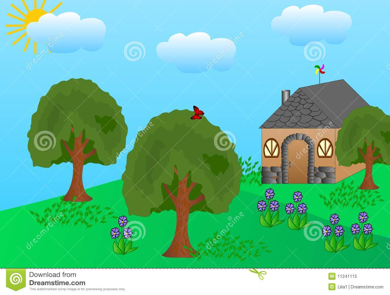 My house with garden drawing for kids - House With Little Garden Royalty Free Stock Photo Image House Garden Clipart