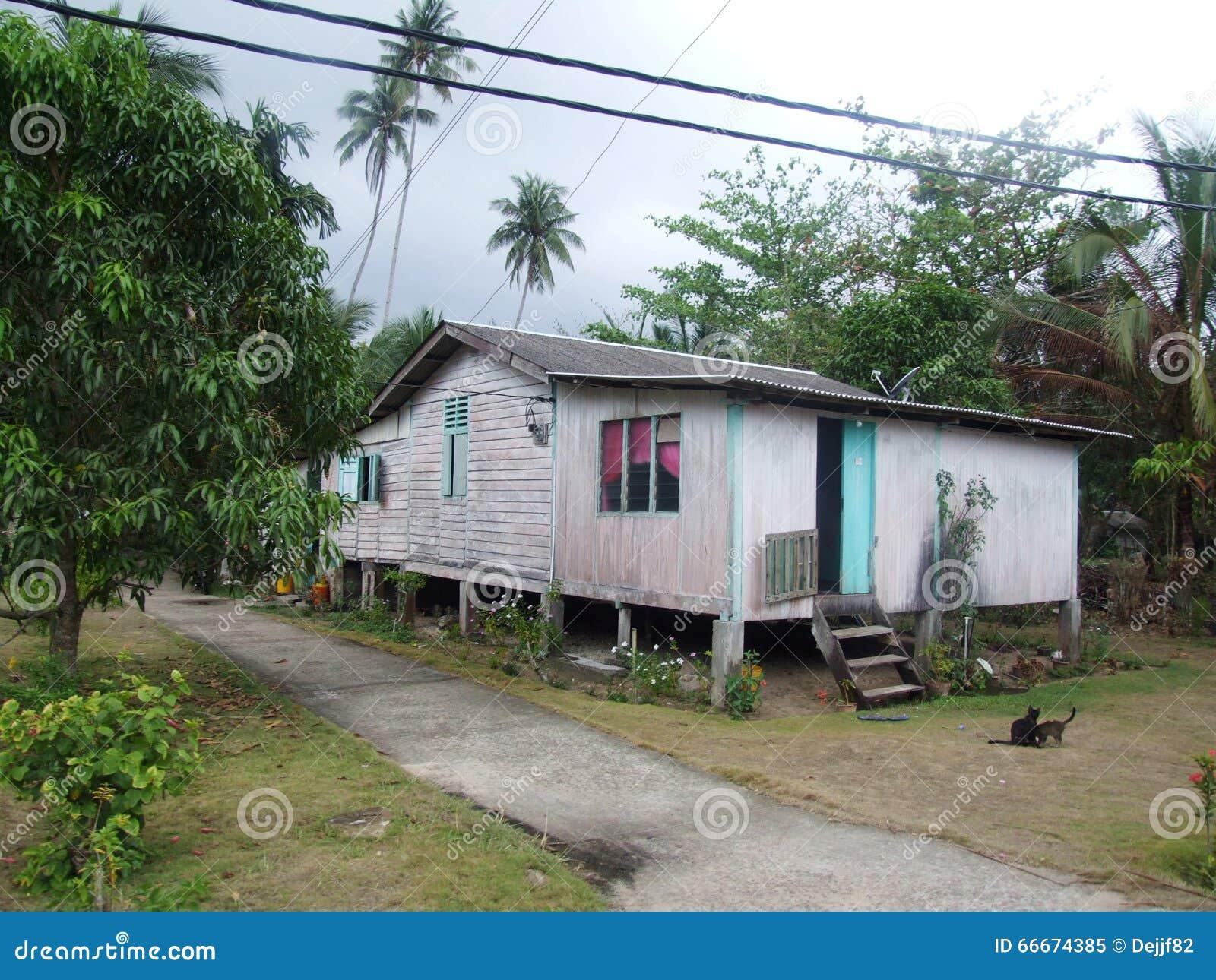 House Of Locals In Juara Village Tioman Island Stock Image Image