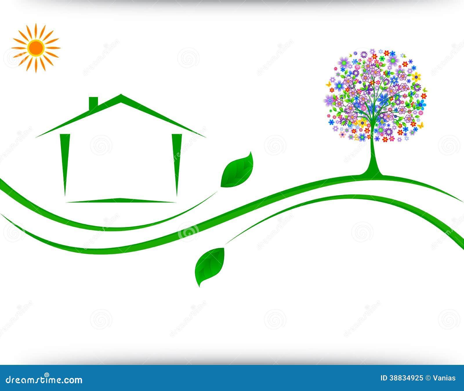 House logo design stock vector image 38834925 Home decoration vector free