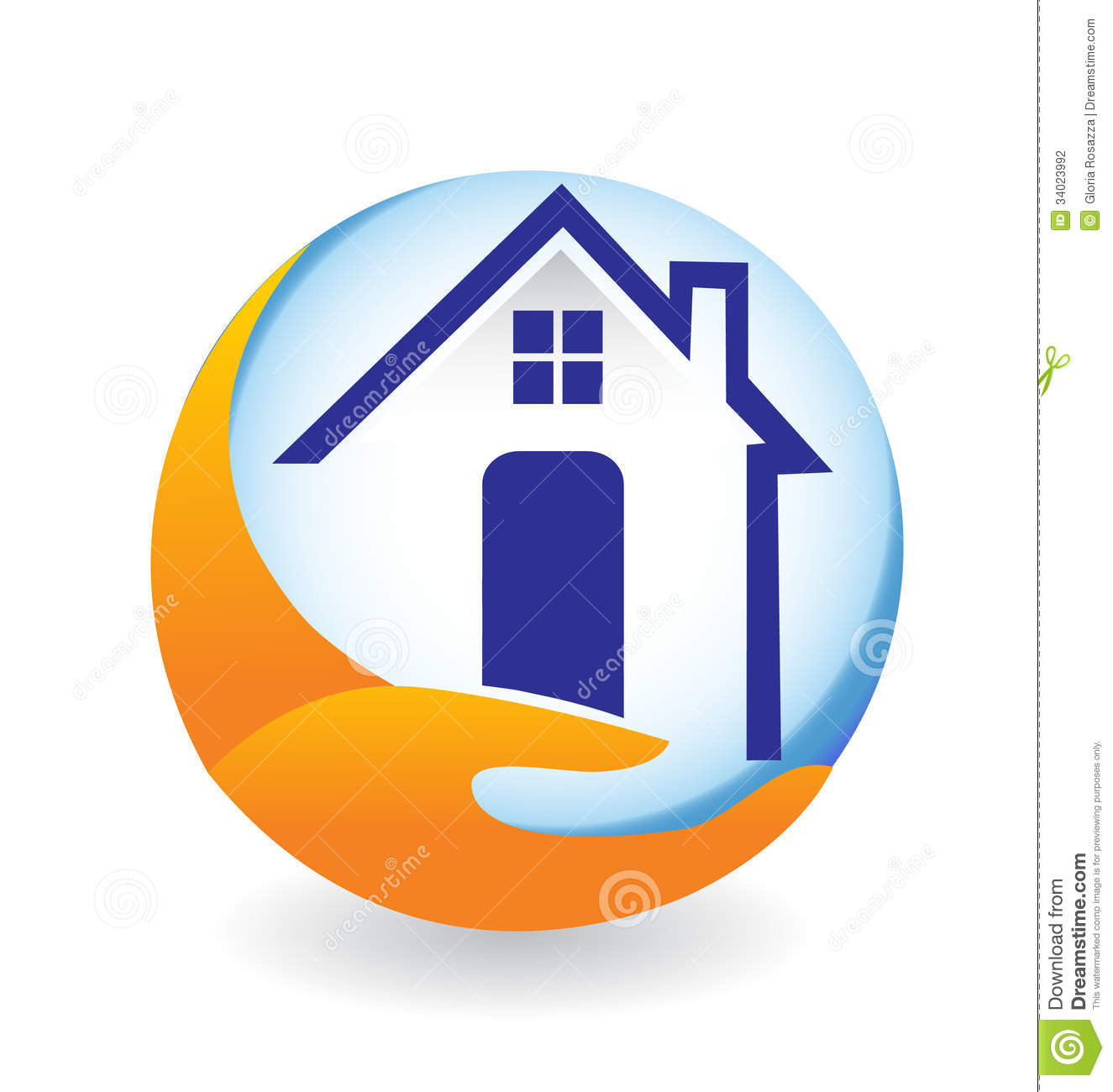 House logo stock photography image 34023992 for House design company