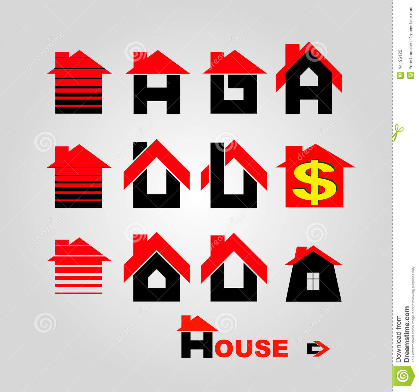 House logo stock vector image 44196122 for Firm company