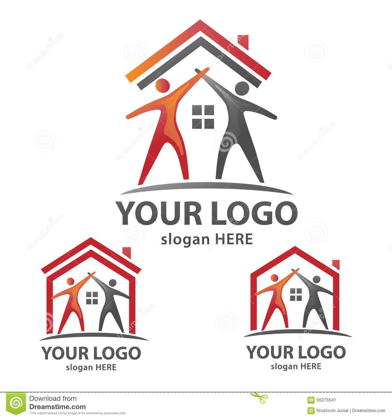 House logo stock vector image of domestic corporate for Minimalist house logo
