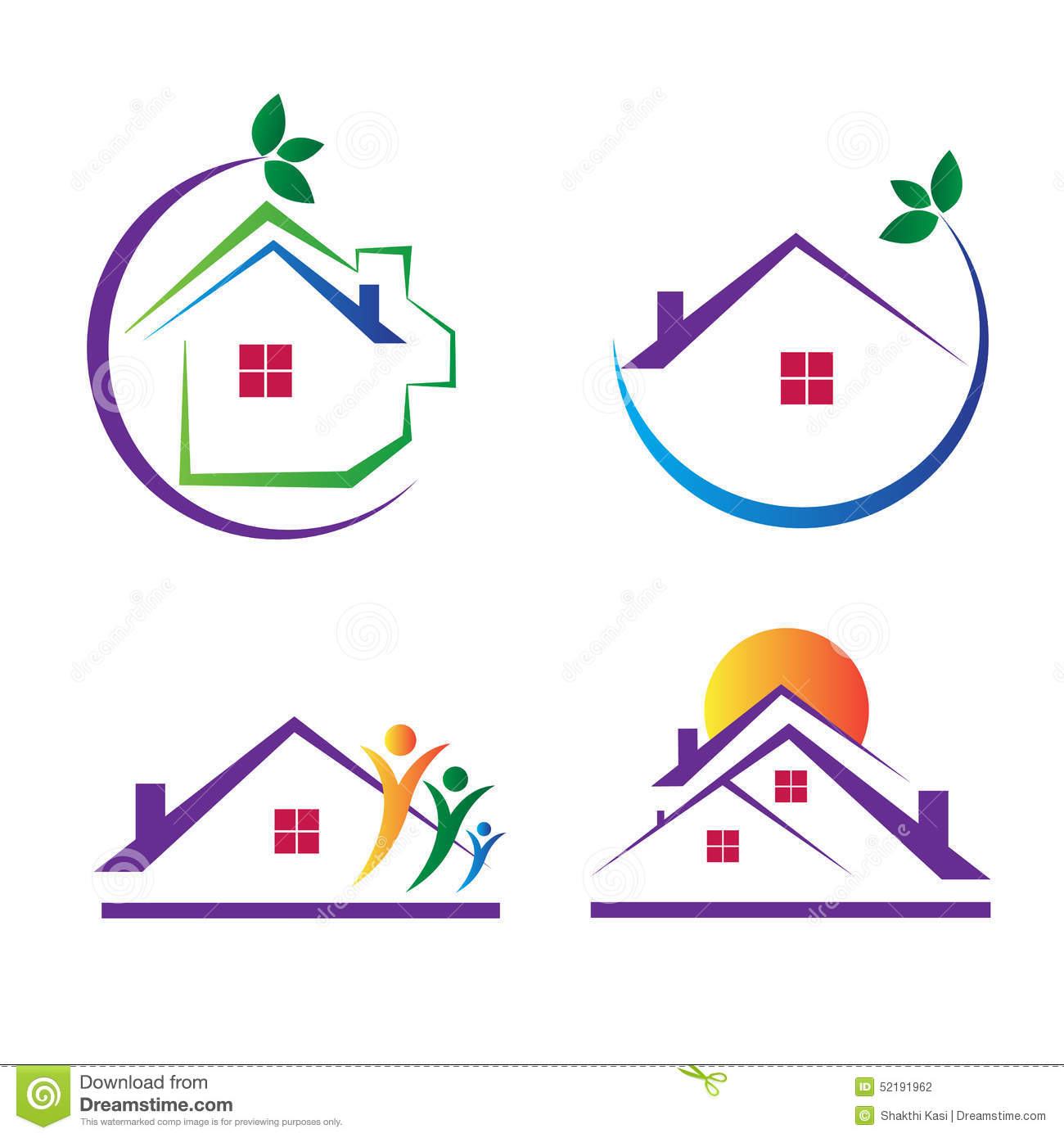 House Logos Stock Vector. Illustration Of Element
