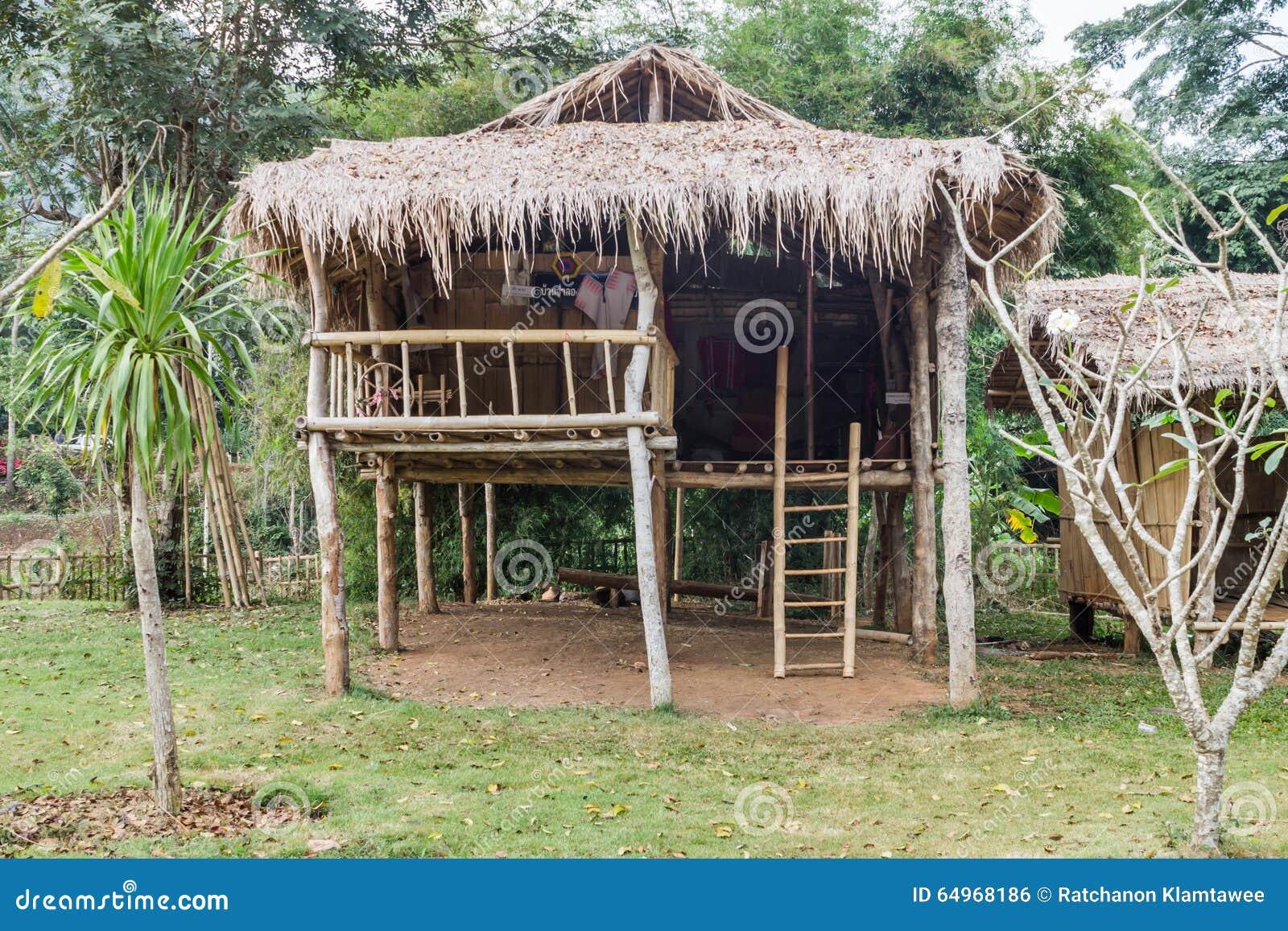 House Made Bamboo Stock Photo Image 64968186