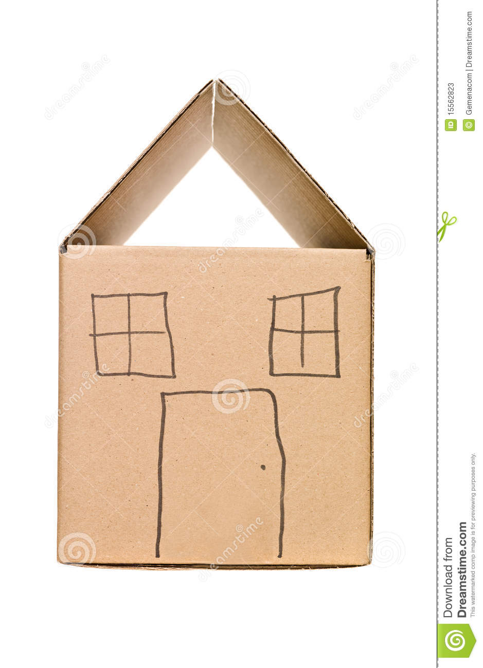 House made of cardboard box stock image image of for House in a box
