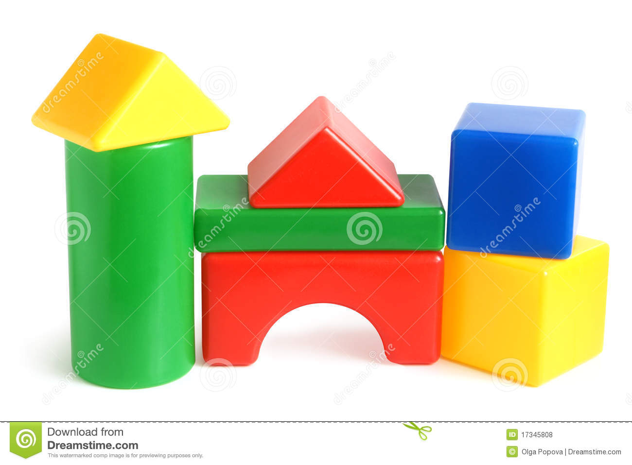 House made from children 39 s building blocks royalty free for Foam blocks for building houses