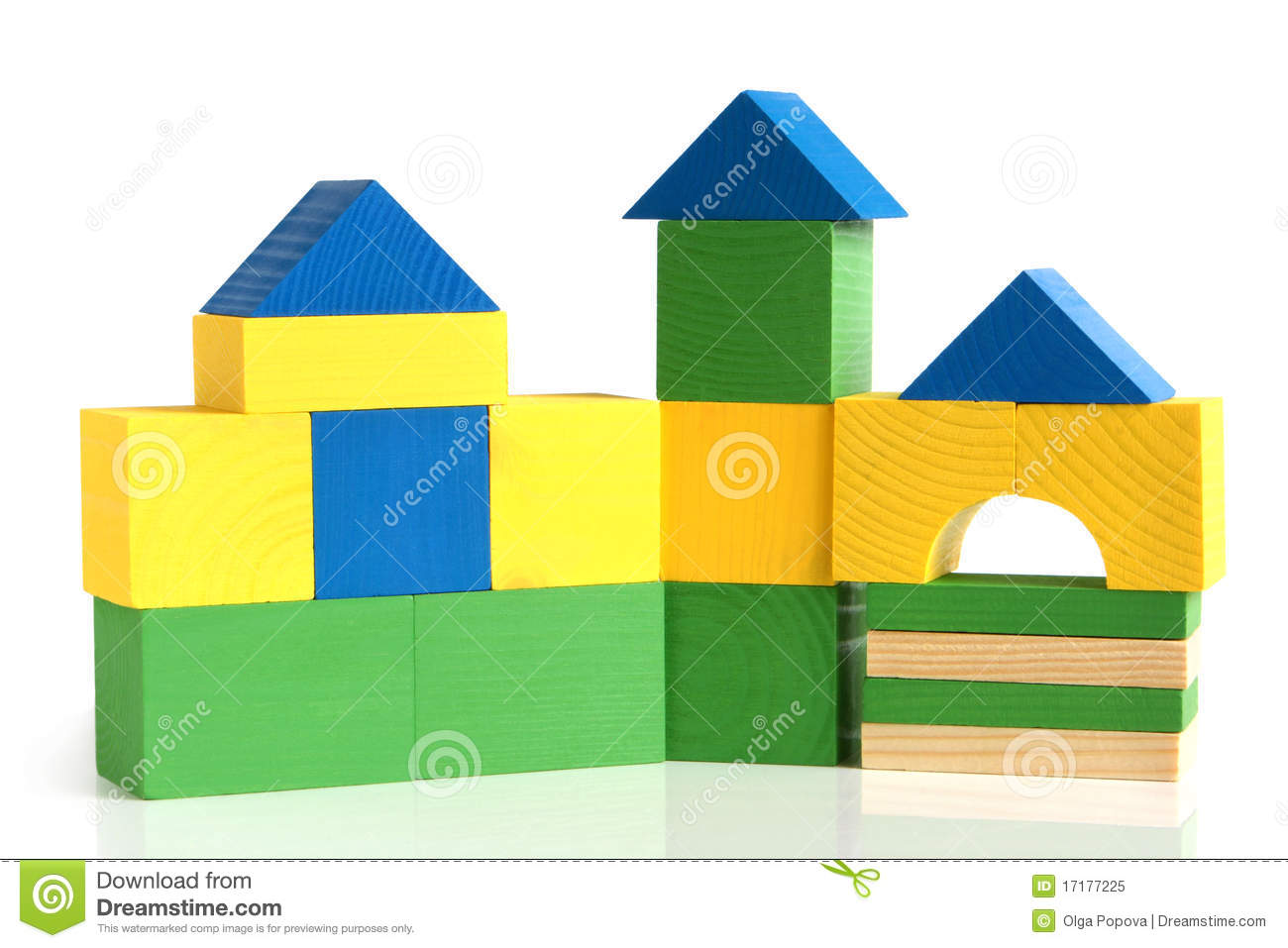 house made from children u0026 39 s wooden building blocks royalty