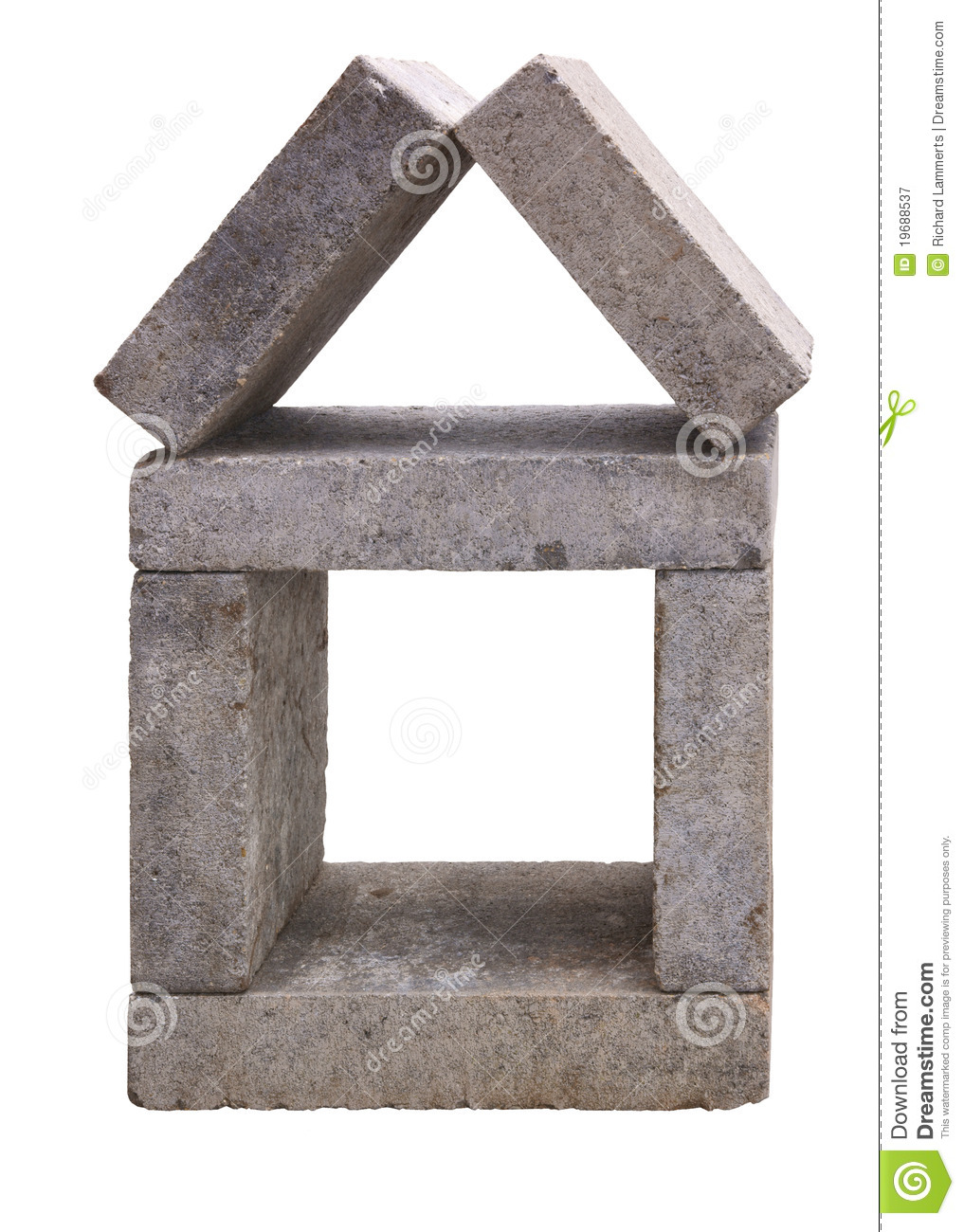 House made of concrete building blocks royalty free stock photography image 19688537 - Houses made concrete blocks ...