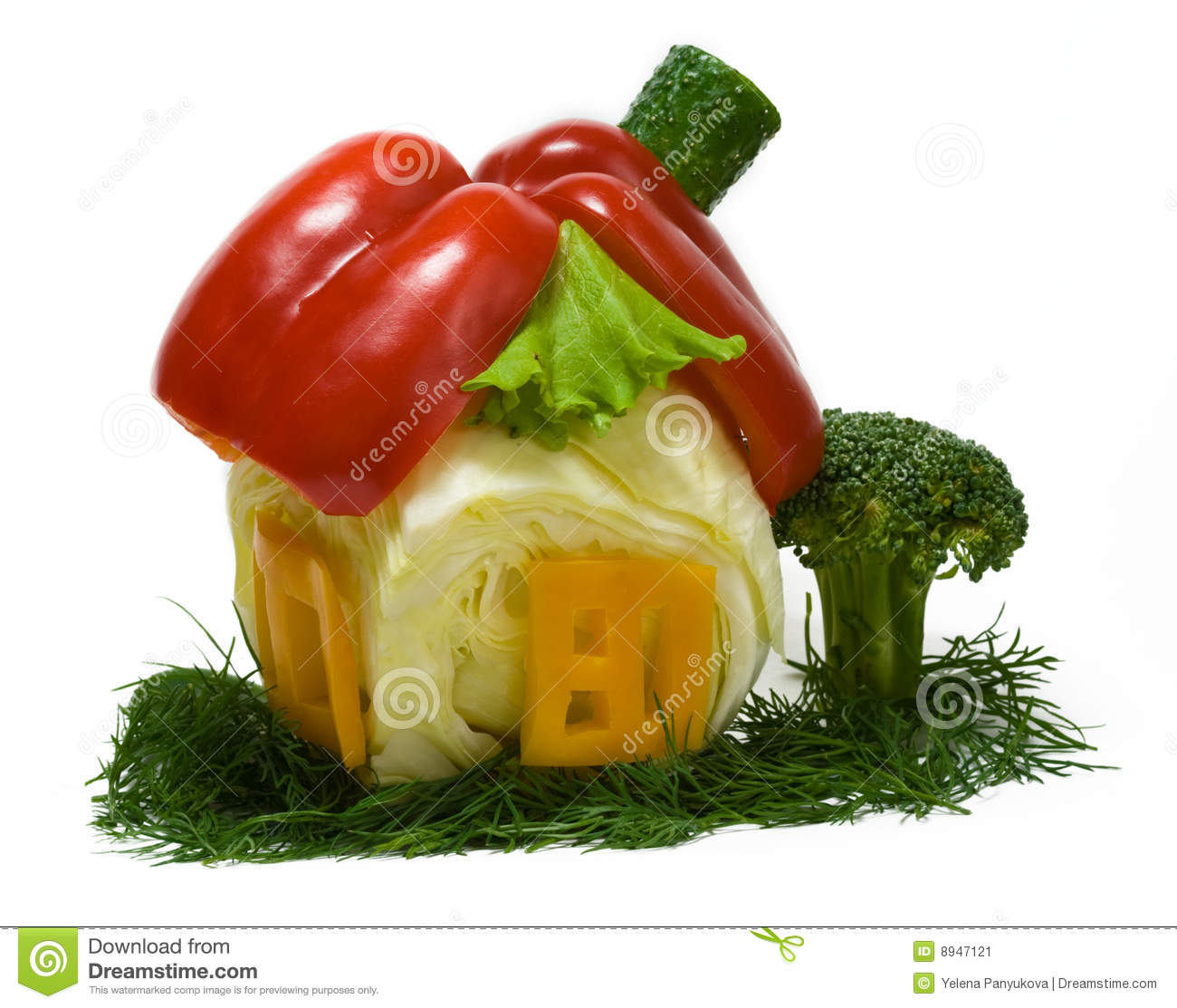 House Made From Fresh Vegetables Stock Image