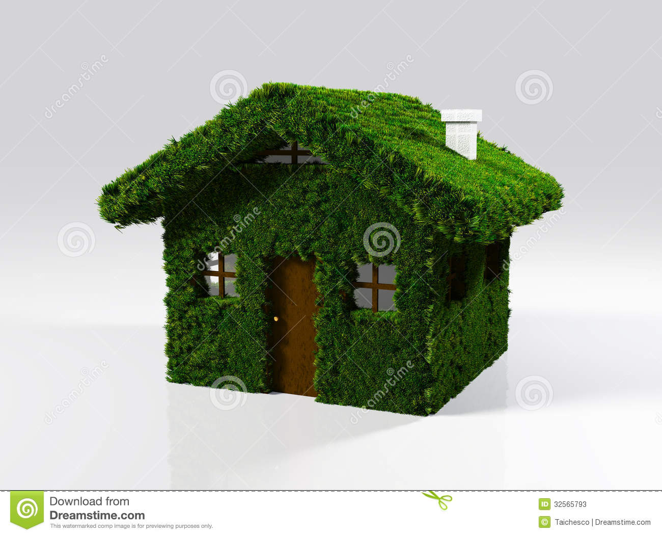 A House Made Of Grass Stock Illustration Image Of Healthy