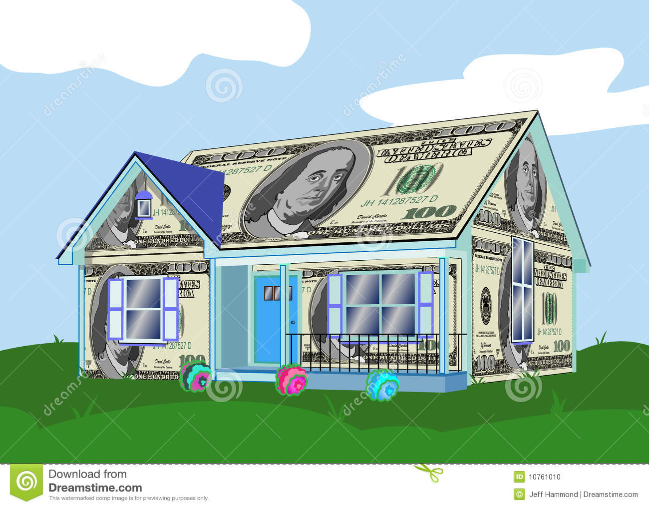 House made of money stock photo image 10761010 for Free money to build a house