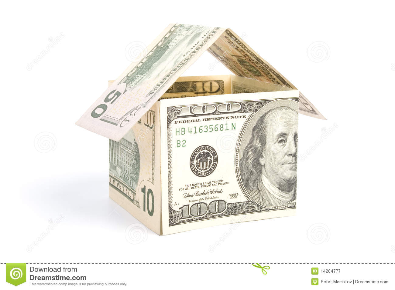 House made of money stock image image of estate paying for Free money to build a house