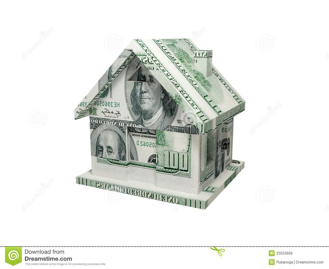 House made of money royalty free stock images image for Free money to build a house