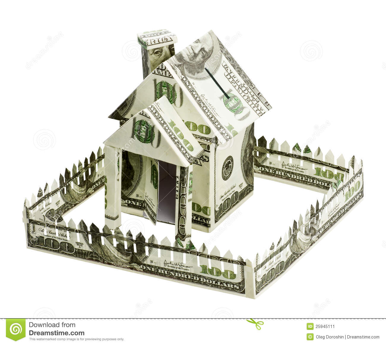 House made of money stock image image of currency bill for Free money to build a house