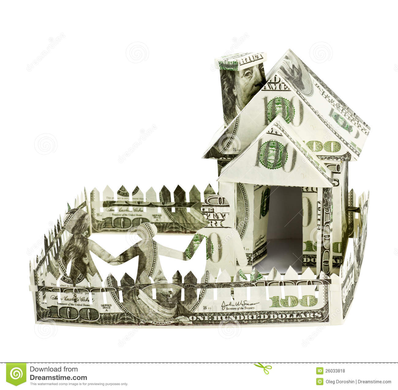 House made of money and the family royalty free stock for Free money to build a house