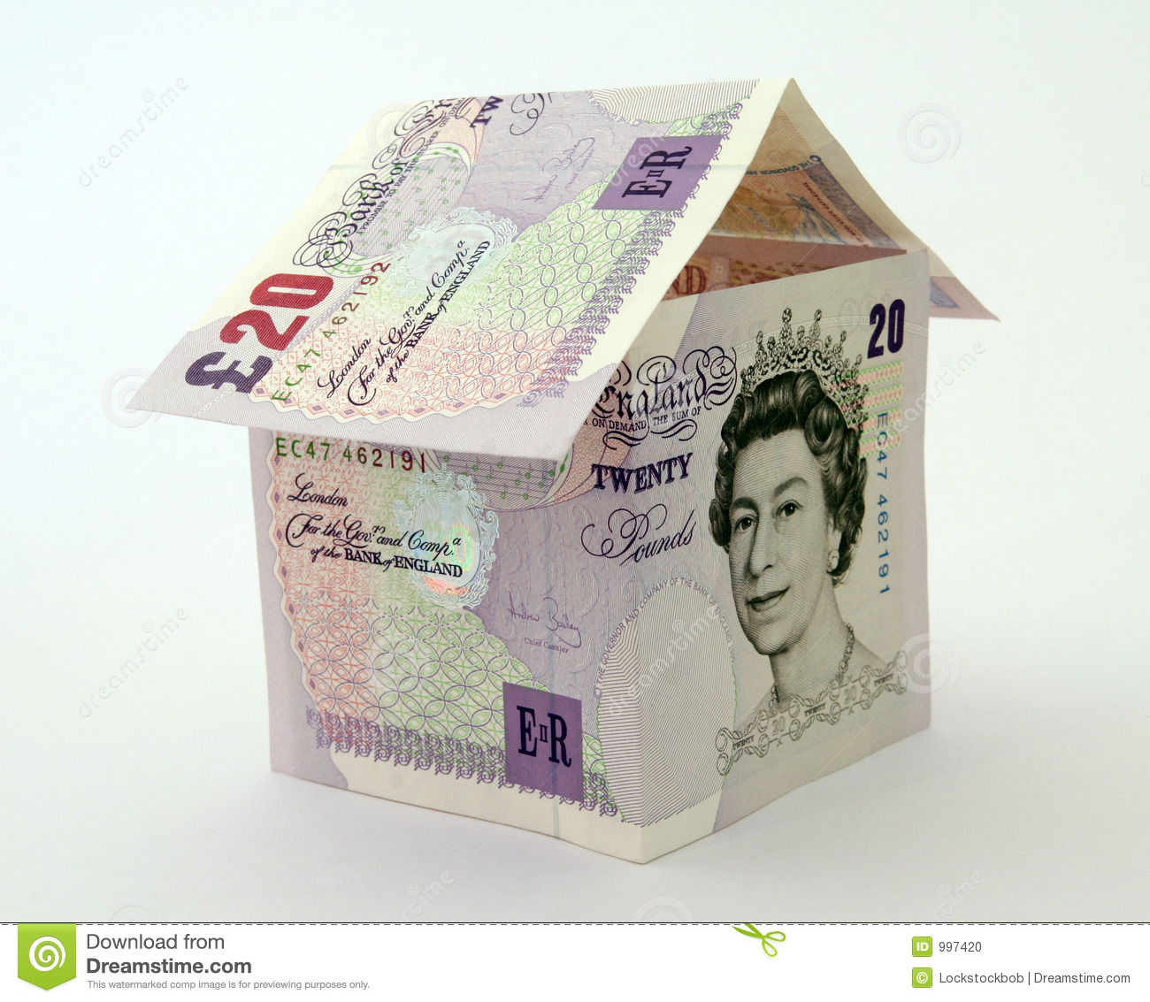 House Made Of Money Notes And Bills Editorial Image