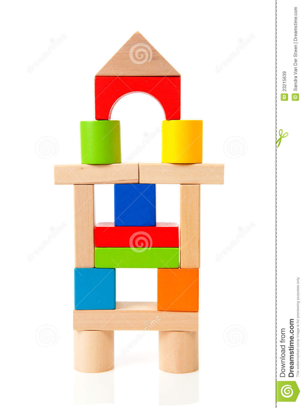 House Made Out Of Colorful Wooden Building Blocks Royalty ...
