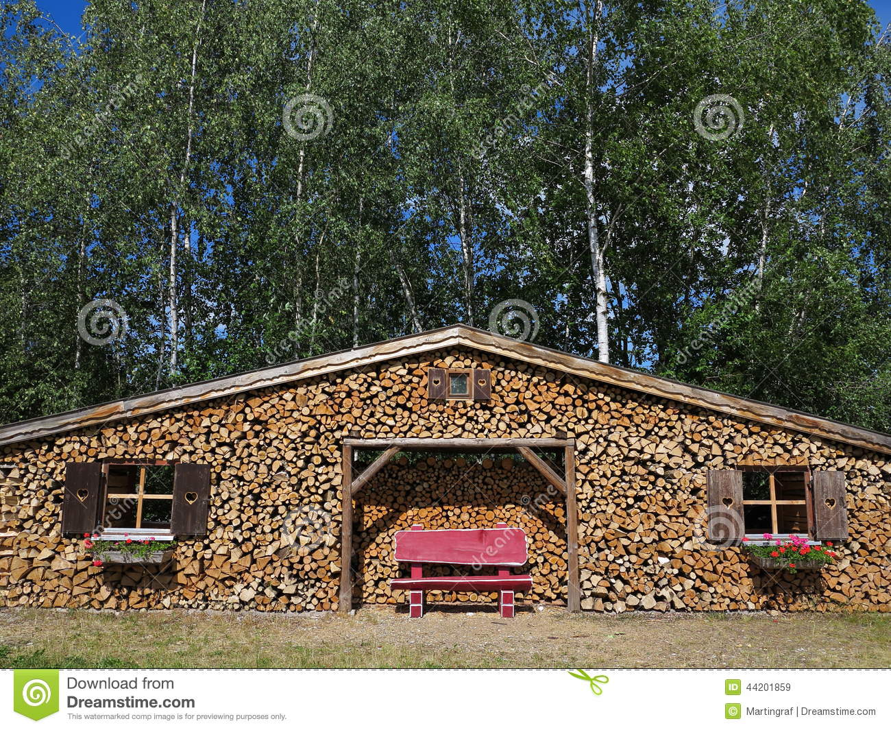 Creative Building Timber Cottage Stock Image Image 44201859