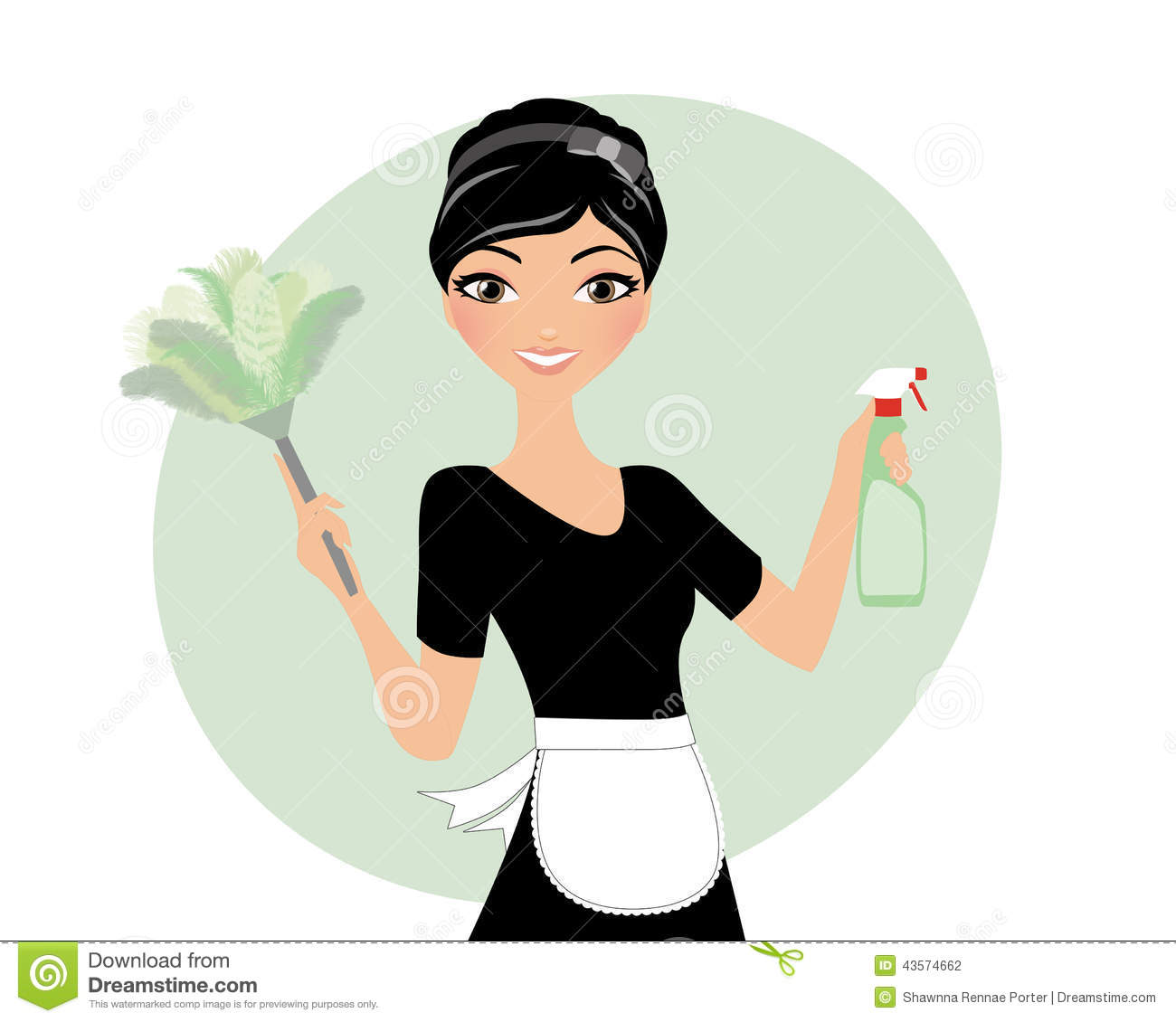 Clean Your House House Maid Duster Stock Photo Illustration Of Lady Clip