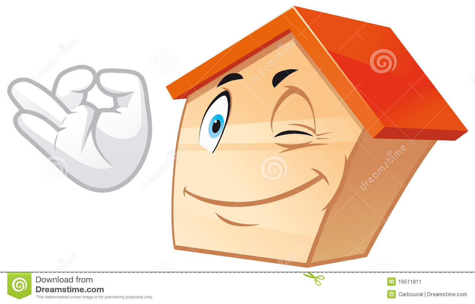 House mascot stock image image 19511811 for Mascot homes floor plans