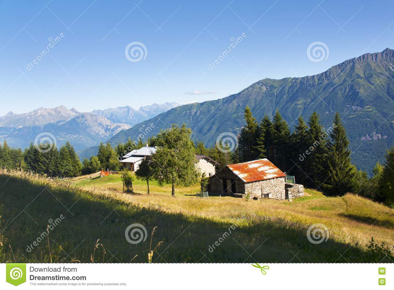 House in the meadow royalty free stock photography image for Meadow house