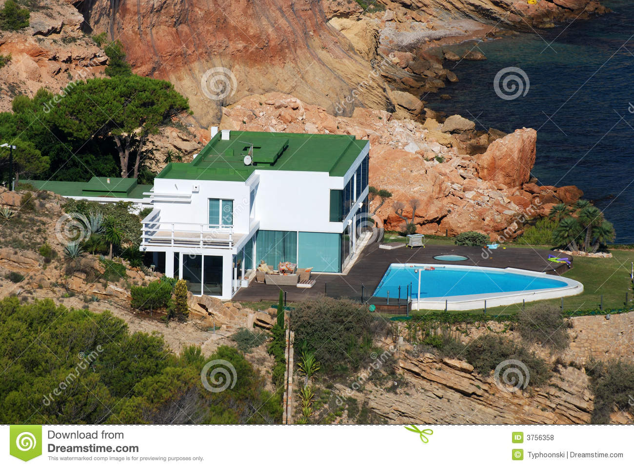 House at the Mediterranean Coast