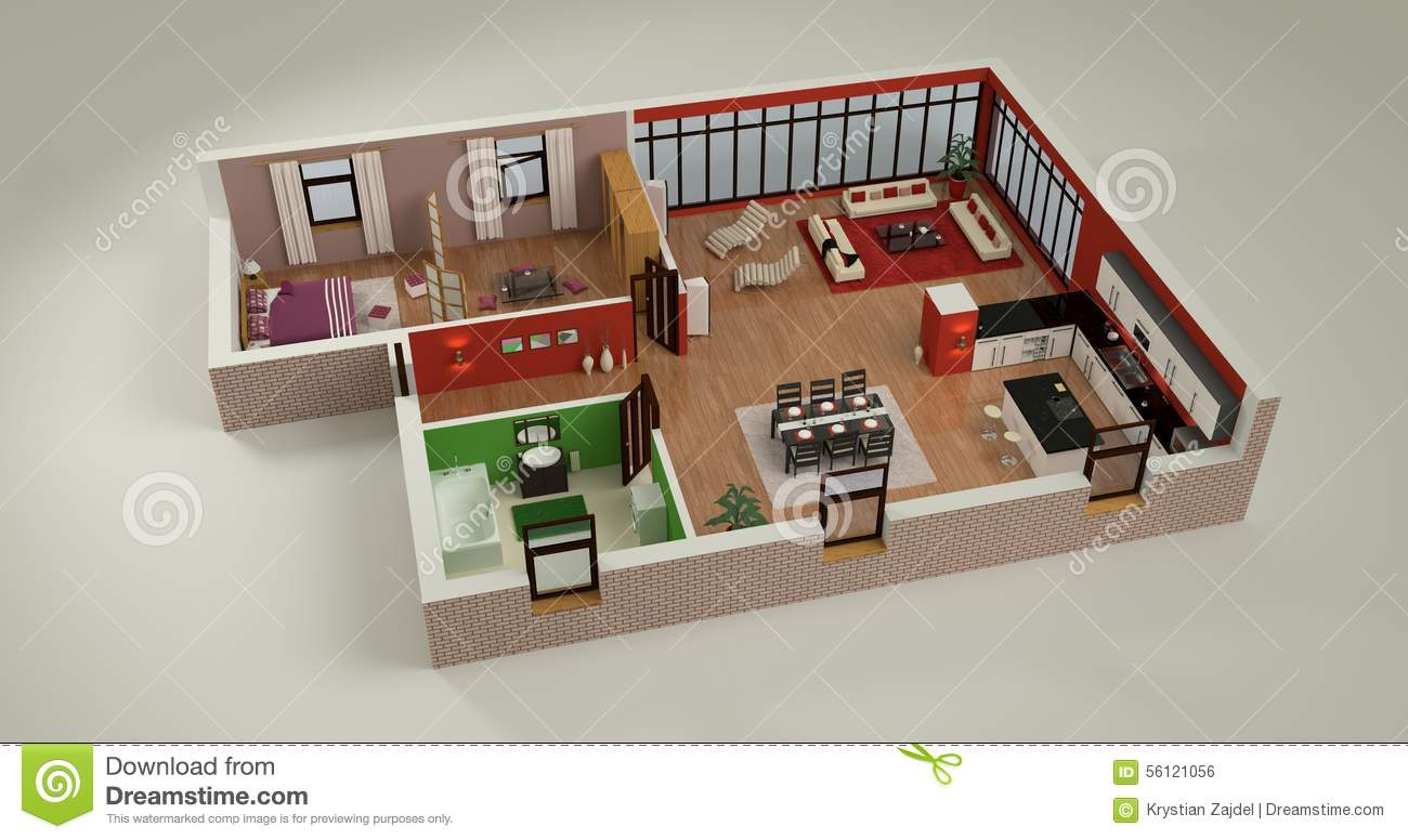 House mockup stock illustration illustration of interior - Maqueta casa up ...