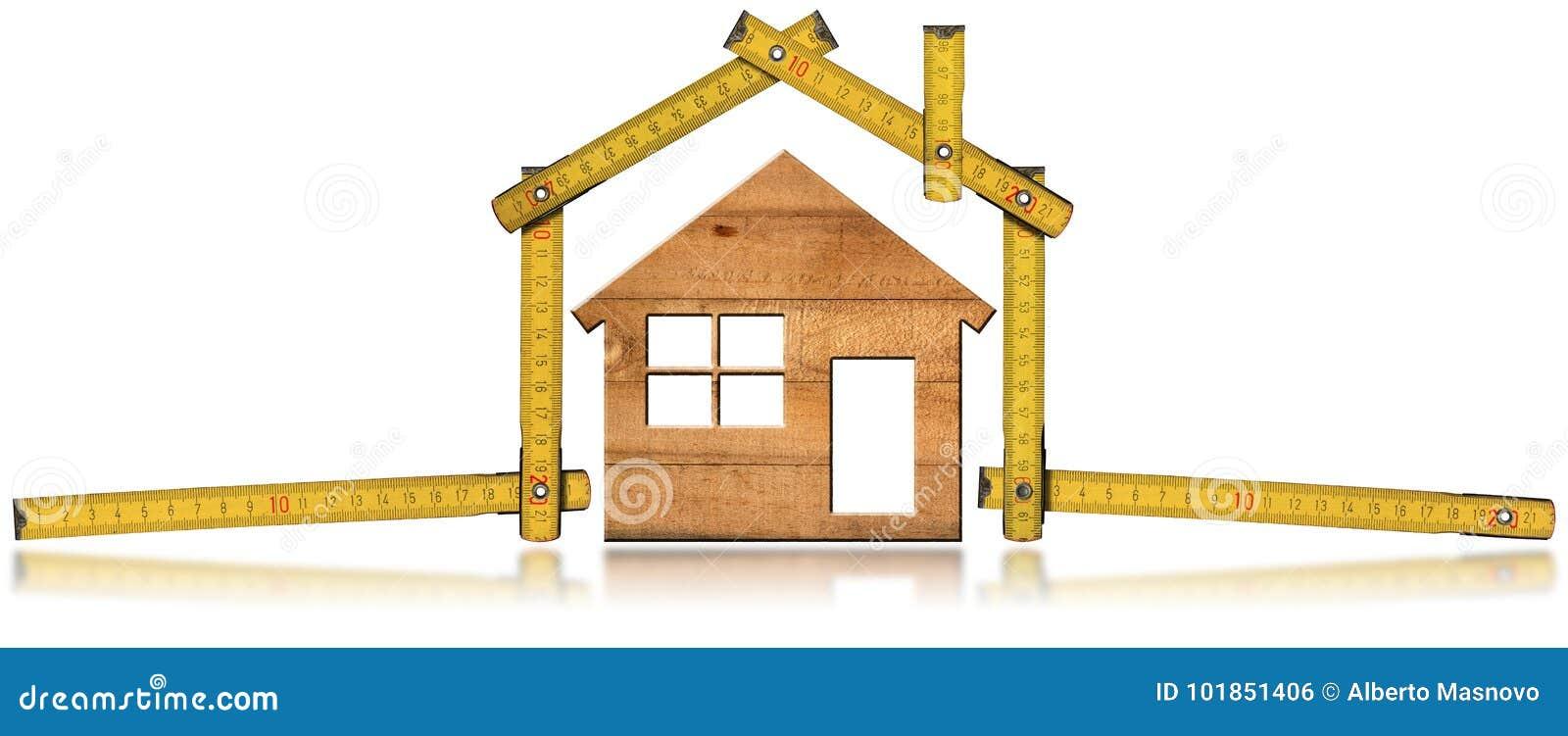 House modèle et dirigeant de pliage en bois