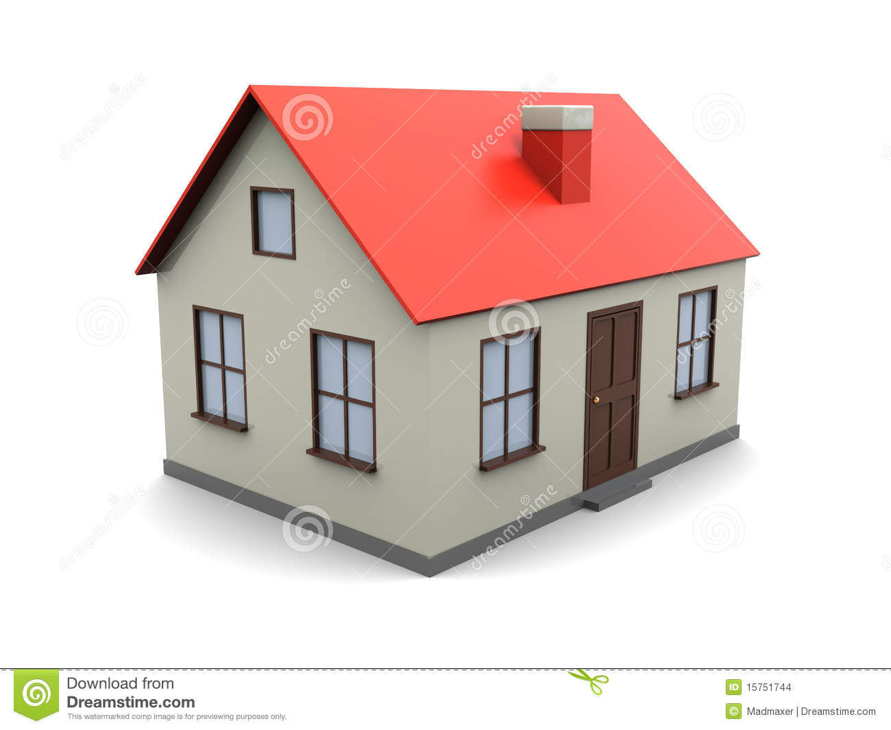 House model stock images image 15751744 for How to make a blueprint of a house