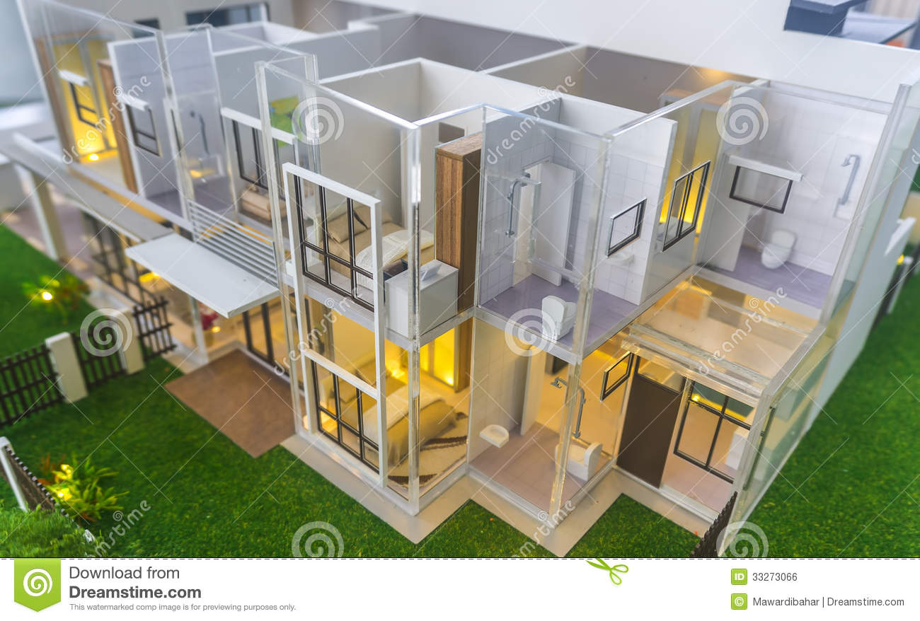 Download house model stock photo image of calculating family 33273066