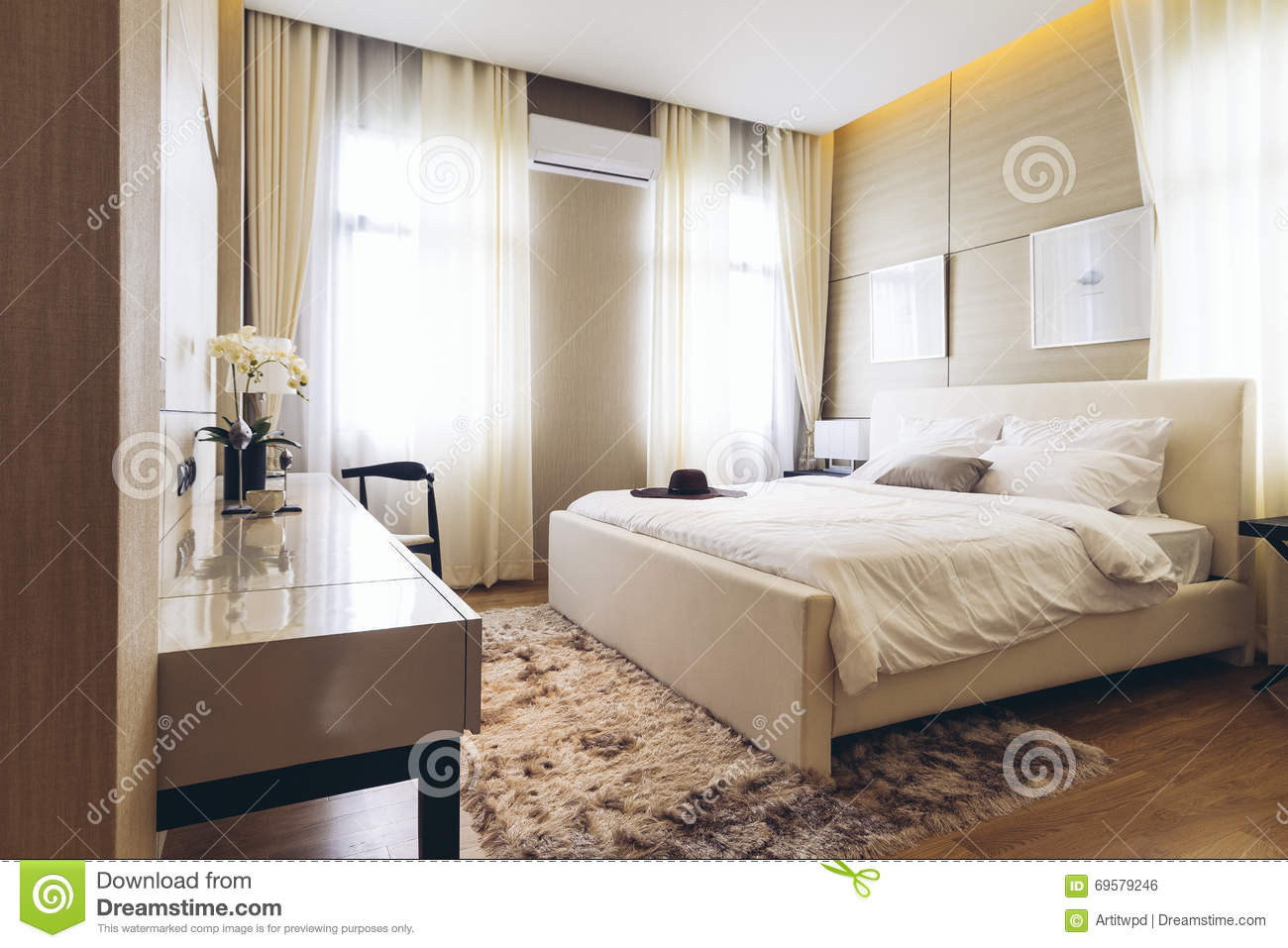 House Mod Le Moderne Italien Chambre Coucher Photo Stock Image 69579246