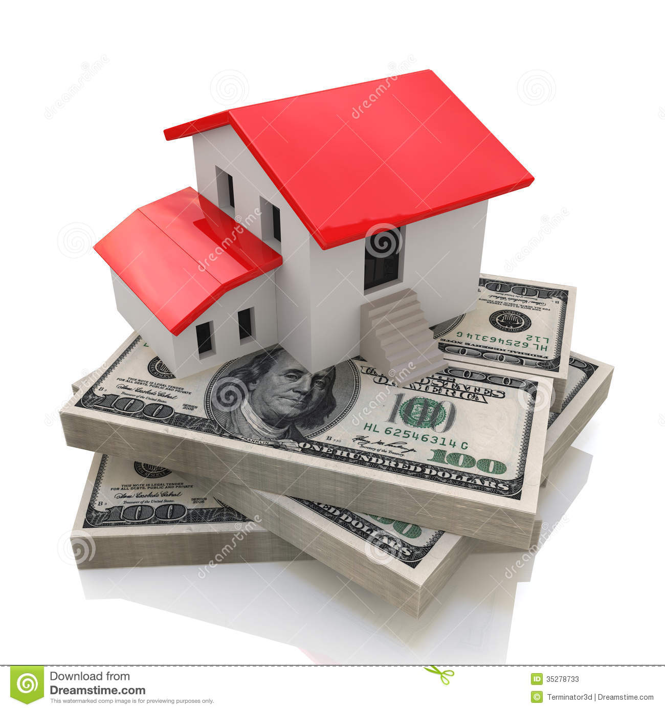 House on money stock photos image 35278733 for Homes built on your land with no money down