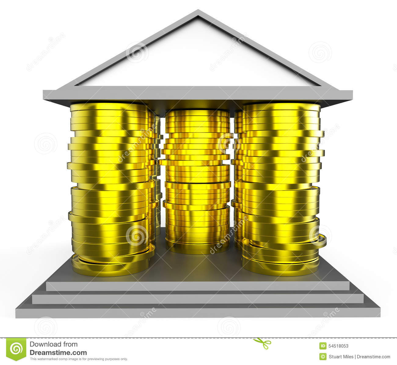 House mortgage represents borrow money and building stock for Borrowing money to build a house