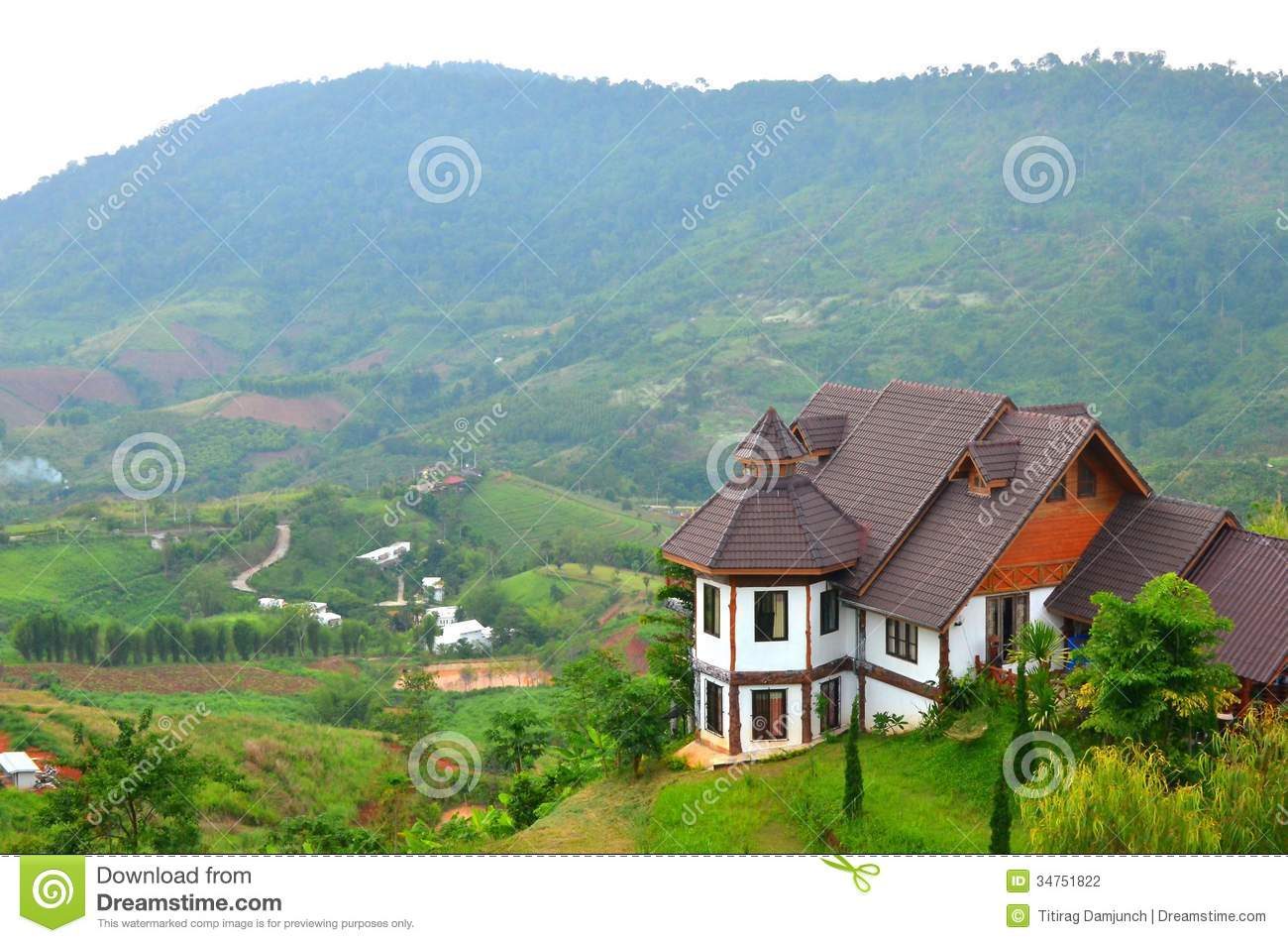 House and mountain view stock photography image 34751822 for Beautiful house view