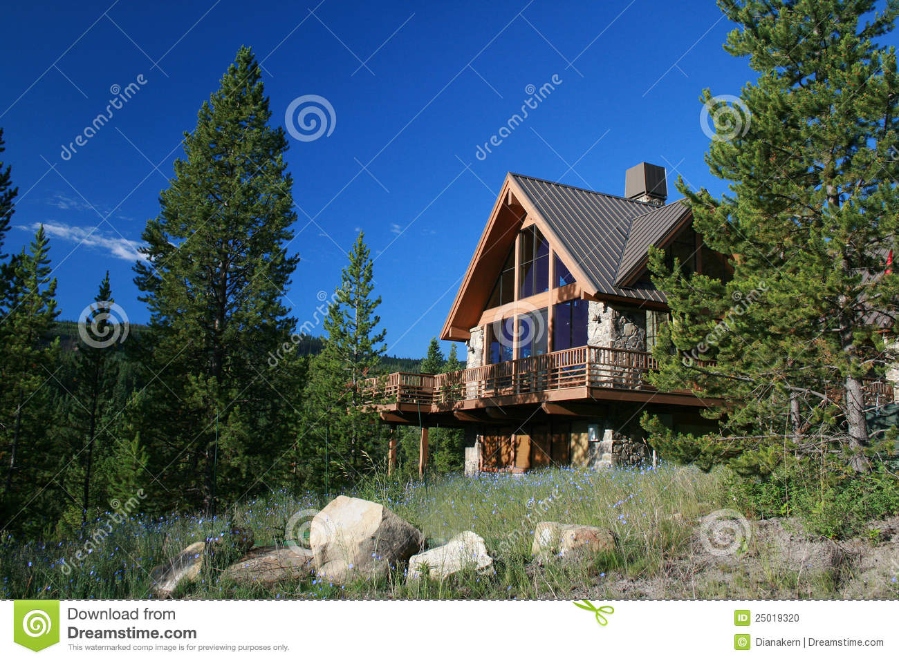 House in mountains stock photo image 25019320 - Summer houses mountains ...