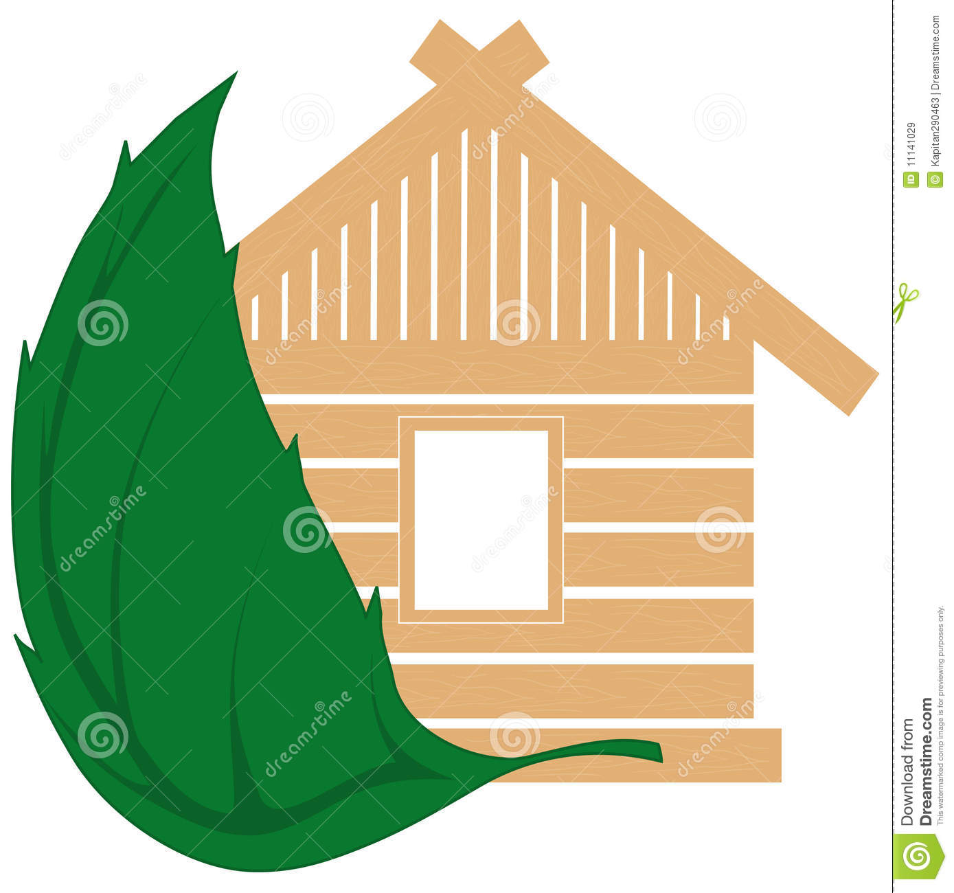 Natural Building Materials : The house from natural building materials stock