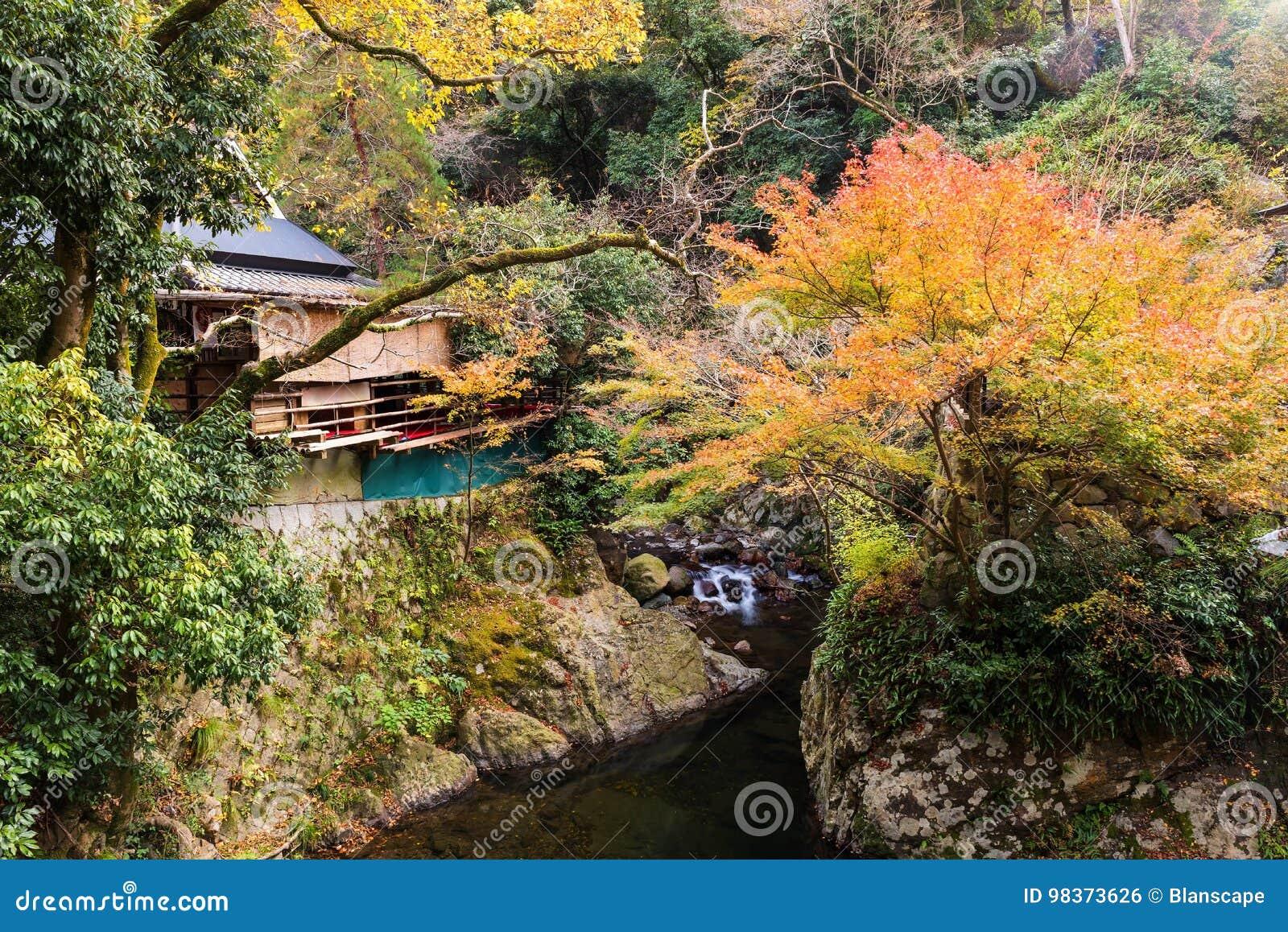 House Near Canal At Autumn, Osaka Stock Photo - Image of japanese ...