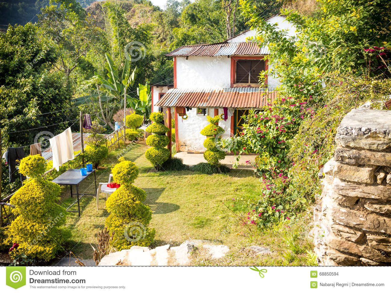 A House Of Nepali Village Stock Photo Image Of Concept 68850594