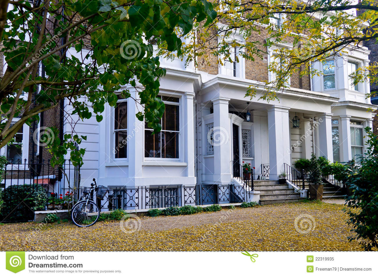House In Notting Hill London Royalty Free Stock Photo