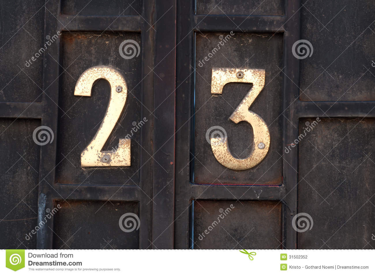 House number 23 & House number 23 stock photo. Image of home unit design - 31502352