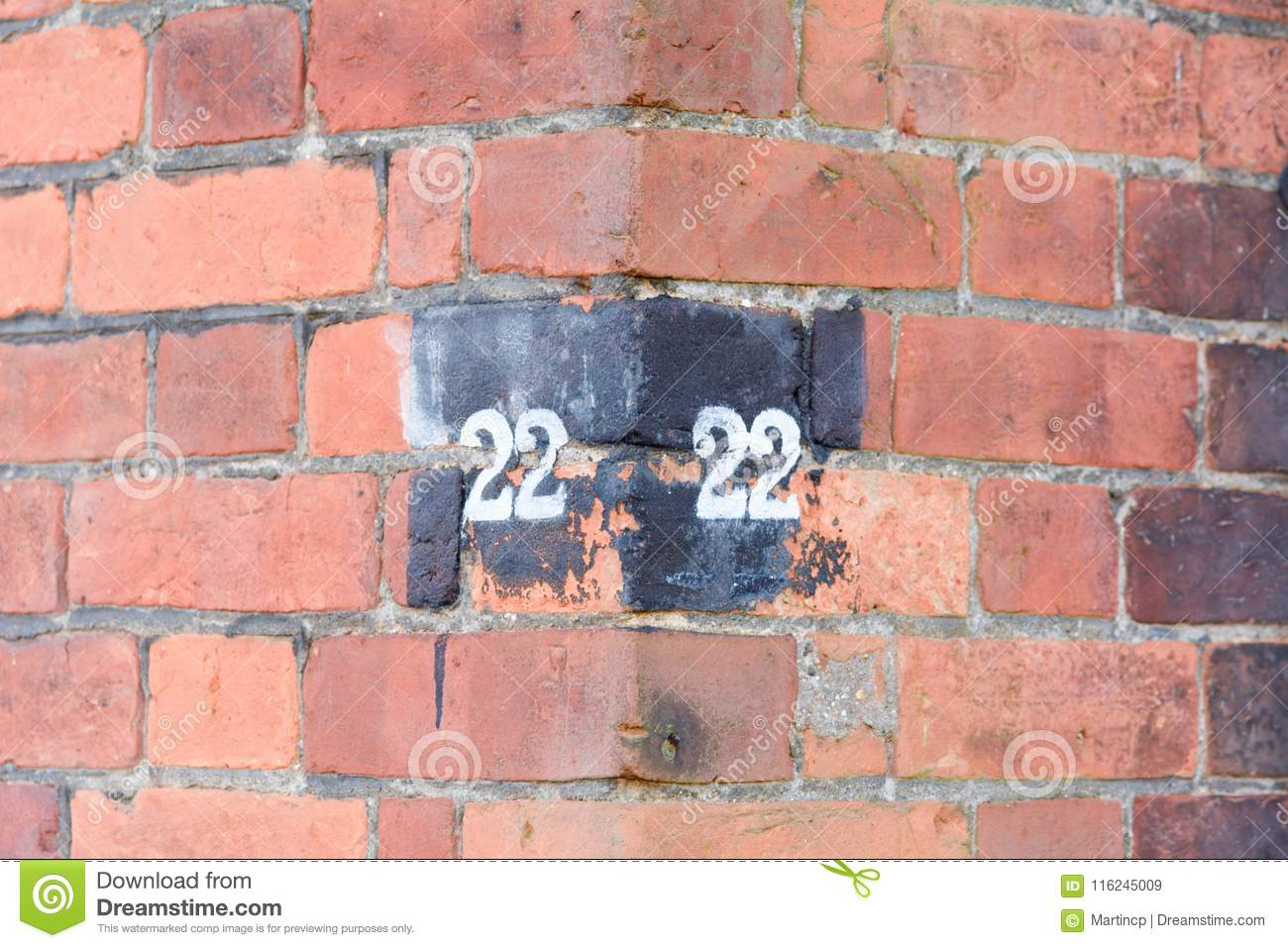 House Number 22 stock image. Image of fixed, fade, color - 116245009