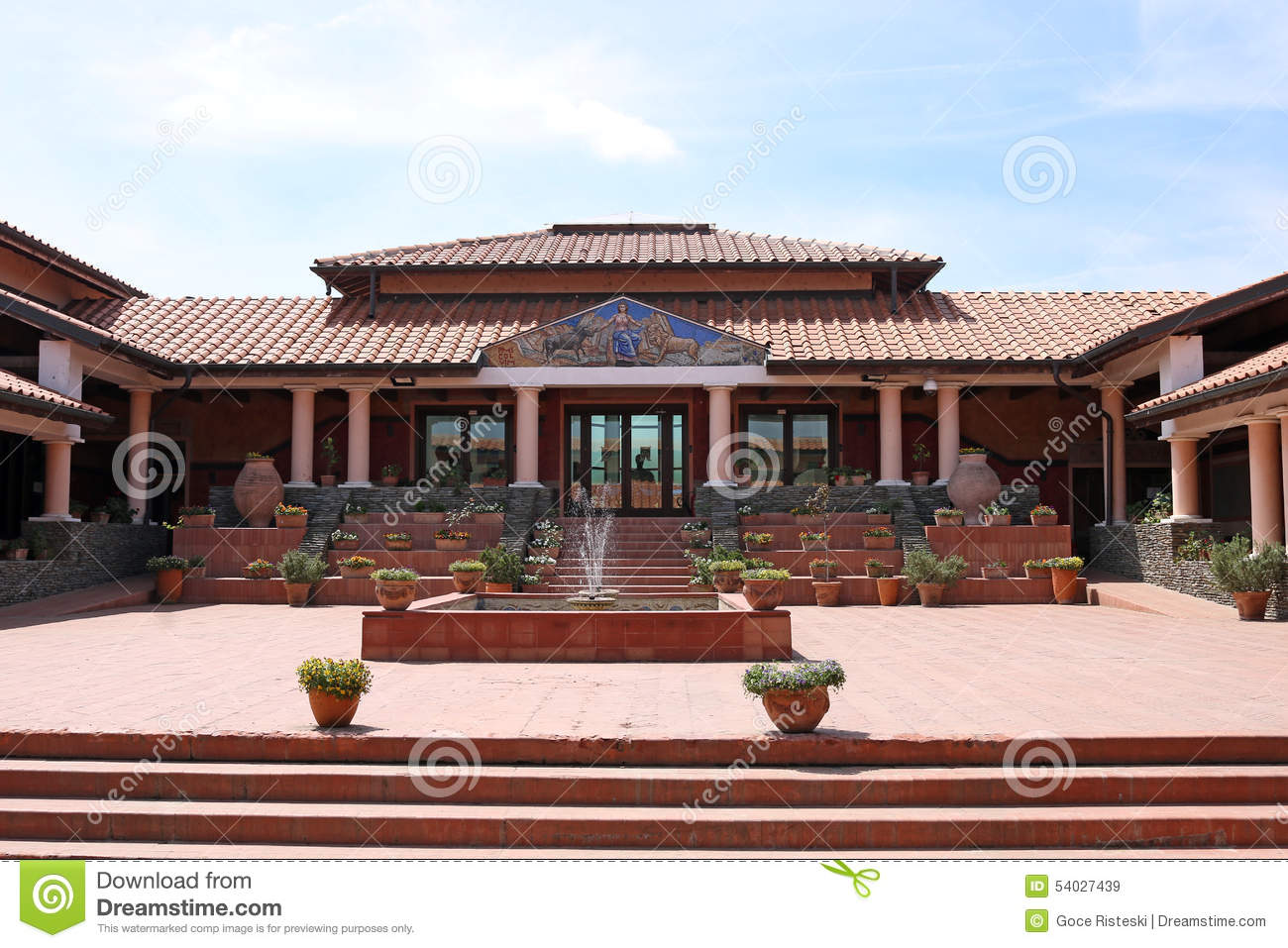 House in old roman style stock image Image of italian 54027439