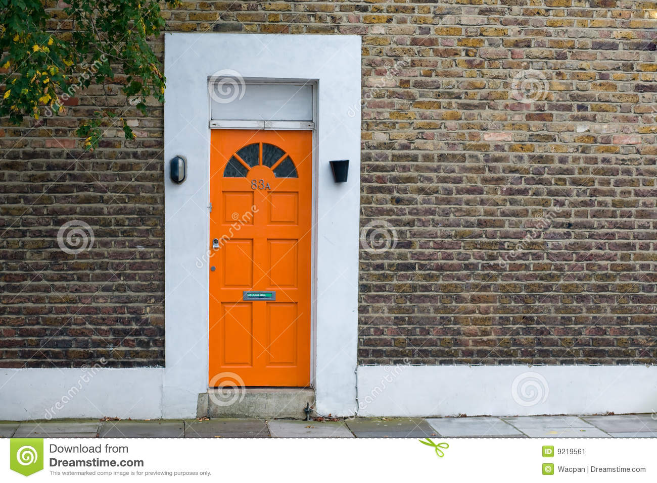 House with orange door