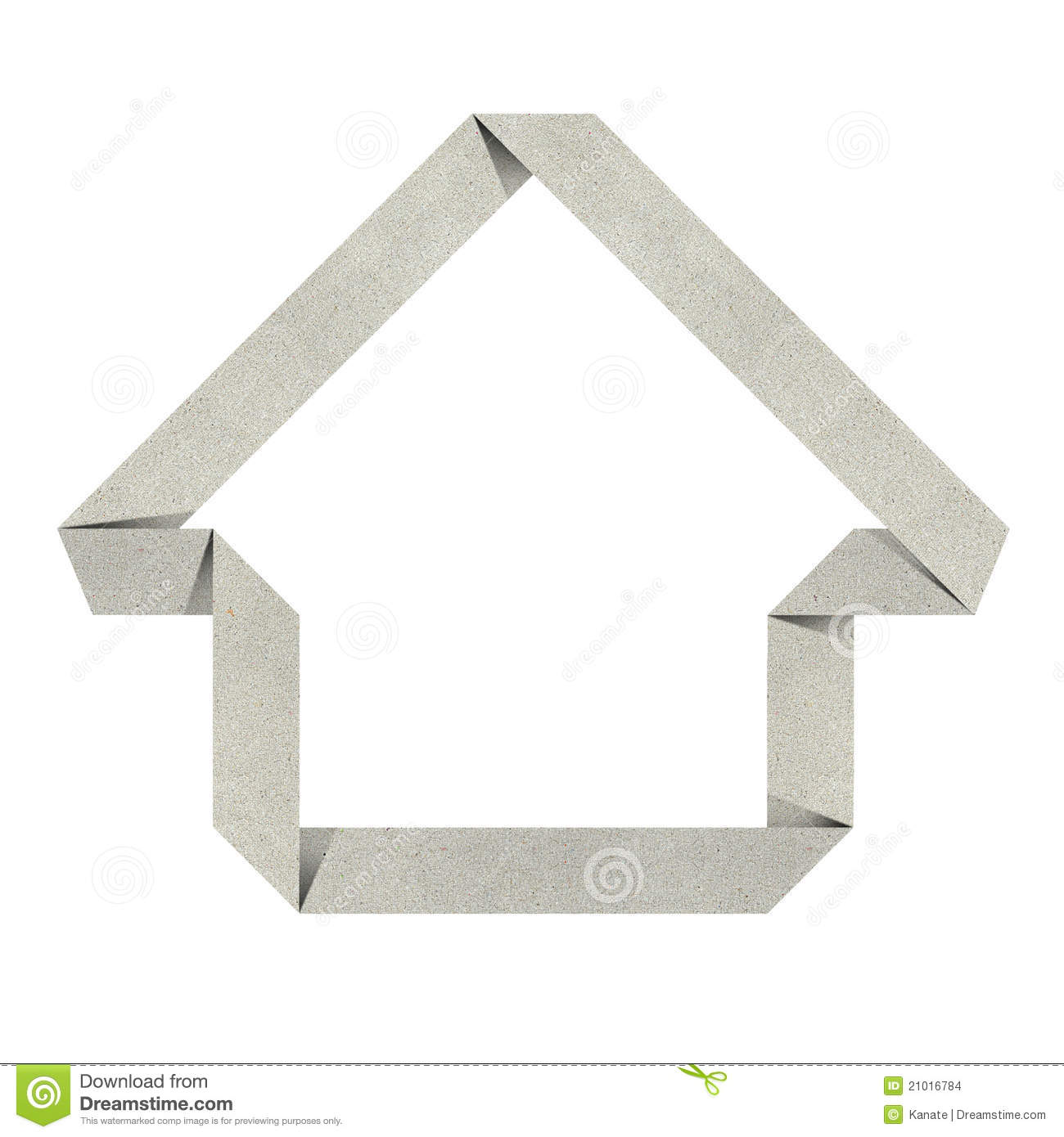 House Origami Recycled Papercraft Stock Images - Image: 21016784