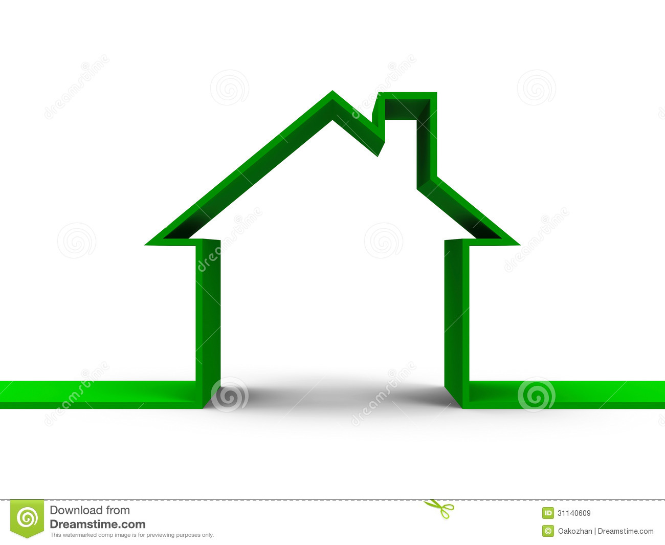 House Outline Concept Royalty Free Stock Images - Image: 31140609
