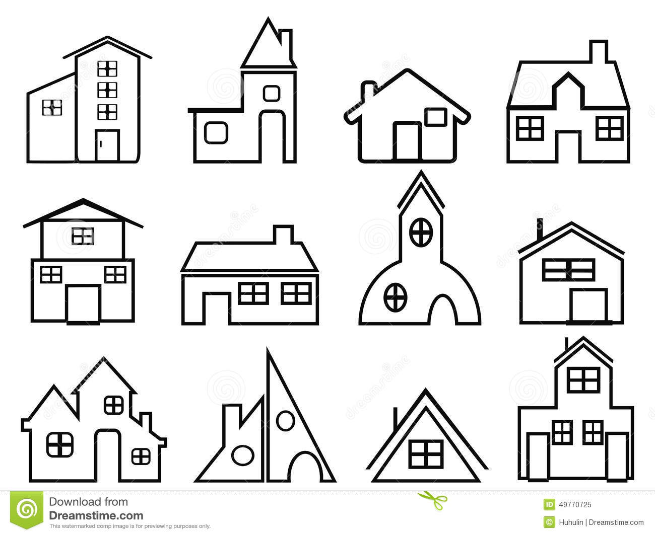 House outline picture - Royalty Free Vector Download House Outline