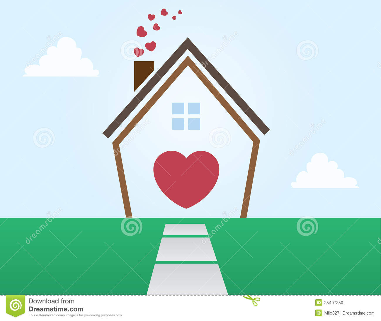 House outline love stock photo image 25497350 for Lovers home