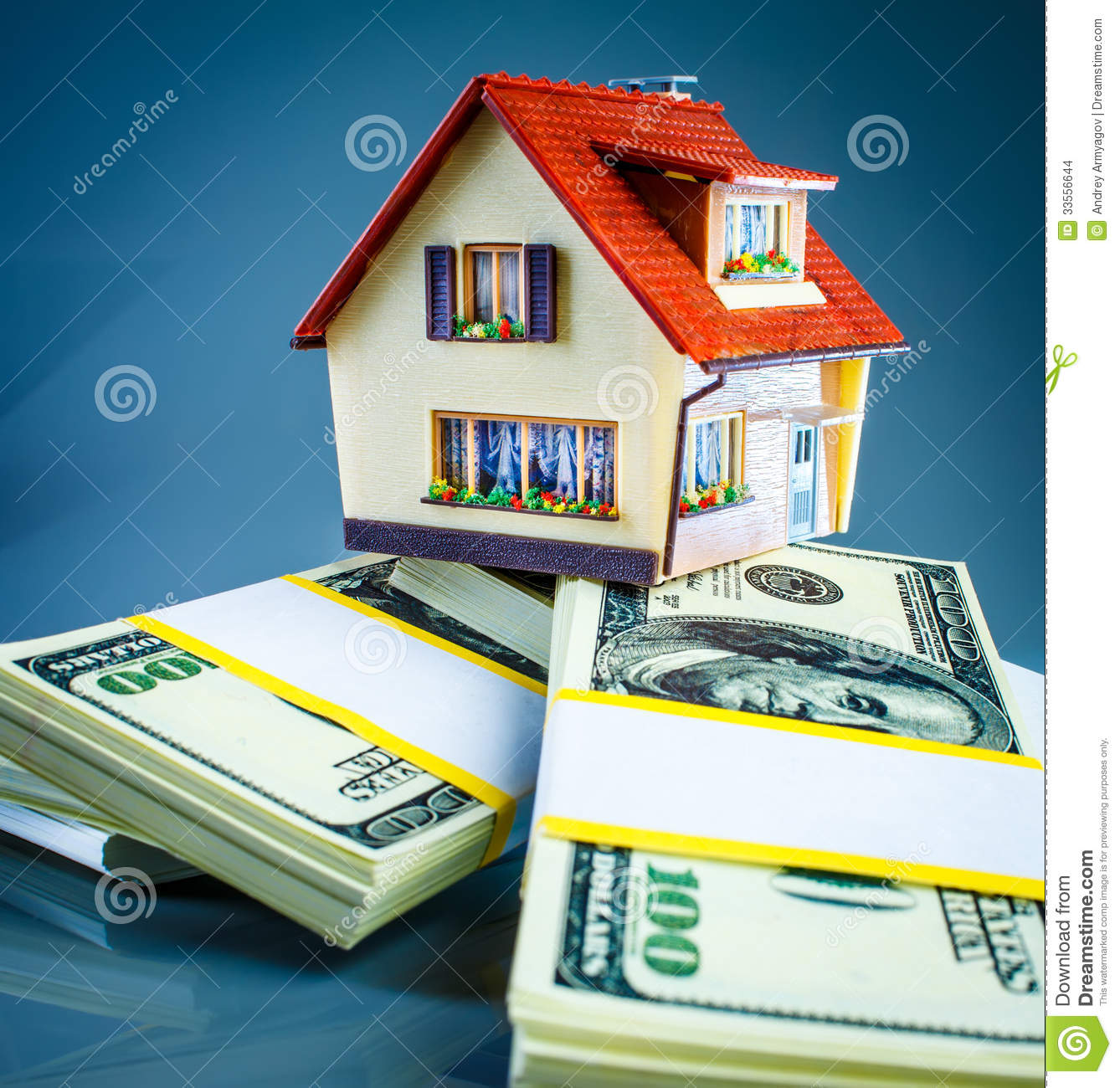House On Packs Of Banknotes Stock Images - Image: 33556644